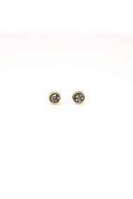 Lover's Tempo Swarovski Mini Post Earrings in Black Diamond