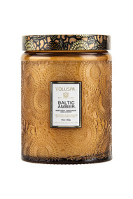 Voluspa Large Glass Jar Candle in Baltic Amber
