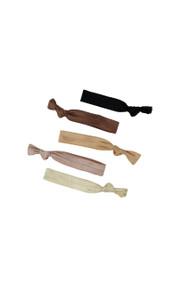 Kitsch Solid 5pc Hair Tie Set in Basic