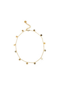 Lover's Tempo Fool's Gold Choker in Gold