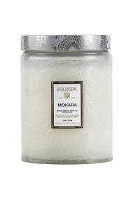 Voluspa Large Glass Jar Candle in Mokara