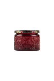 Voluspa Small Embossed Jar Candle in Goji Tarocco Orange