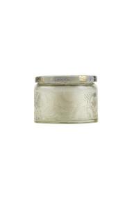 Voluspa Small Embossed Jar Candle in Nissho Soleil