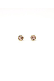 Lover's Tempo Swarovski Mini Post Earrings in Light Peach