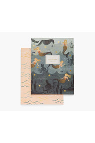 Rifle Paper Co. Pair of 2 Mermaid Notebooks