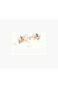 Rifle Paper Co. Pack of 12 Peony Recipe Cards