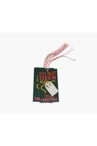 Rifle Paper Co. Pack of 10 Do Not Open 'til Xmas Gift Tags