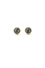 Lover's Tempo Swarovski Stud Post in Black Diamond