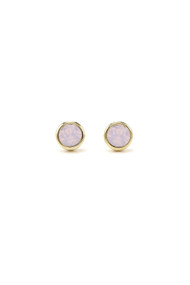 Lover's Tempo Swarovski Stud Post in Pink Opal
