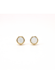 Lover's Tempo Swarovski Stud Post in White Opal