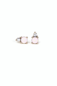 Lover's Tempo Dolce Studs in Pink Opal