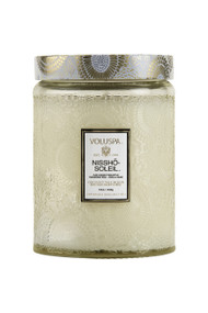 Voluspa Large Glass Jar Candle in Nissho Soleil