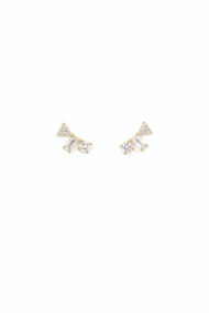 Lover's Tempo Gemma Climber Earrings in Gold