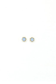 Lover's Tempo Astrid Stud Earrings in Blue Opal