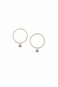 Lover's Tempo Cirque Crystal Drop Earrings in Light Amethyst