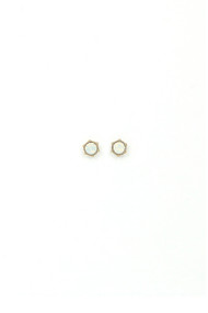 Lover's Tempo Astrid Stud Earrings in White Opal