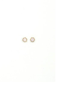 Lover's Tempo Astrid Stud Earrings in Pink Opal