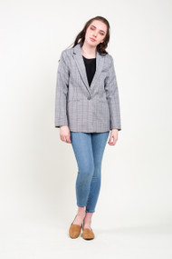 Gentle Fawn Atlanta Blazer in Grey Glen Check