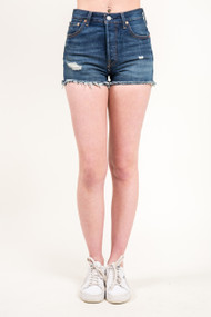 Levi's 501 High Rise Short in Silver Lake