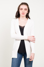 Kersh Open Cardigan in Cream