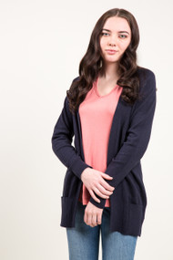 Kersh Open Cardigan in Deepest Navy
