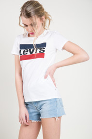 Levis The Perfect Sportswear Logo Tee in White
