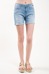 Mavi Pixie Short in Light Ripped Vintage