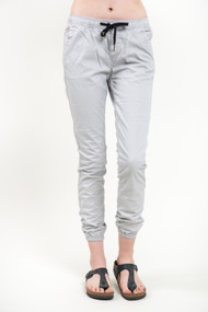 KuwallaTee Womens Chino Jogger in Light Grey