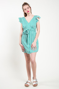 BB Dakota Peppermint Dress in Misty Jade