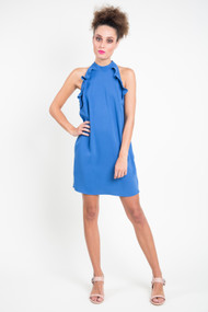 Jack Necks Question Dress in Sea Blue