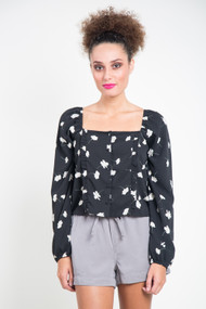 Amuse Society Rosalina Top in Black