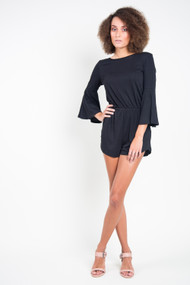 Billabong Da La Sol Romper in Black