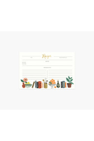 Rifle Paper Co. Pack of 12 Kitchen Shelf Recipe Cards