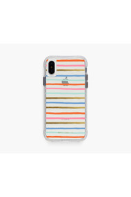 Rifle Paper Co. Clear Happy Stripe iPhone Xs Case