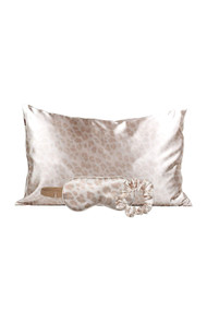 Kitsch Satin Sleep Set in Leopard