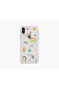 Rifle Paper Co. Clear Good Luck Charms iPhone Xs Case