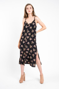 Saltwater Luxe Lily Midi Dress in Black