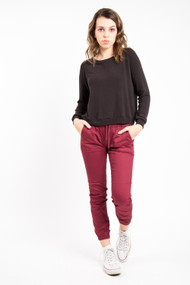 Fairplay Jogger Pant in Burgundy