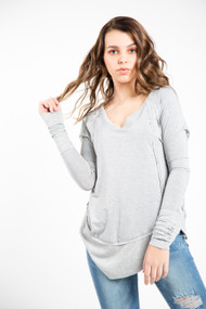 Jackson Rowe Tunic in Heather Grey