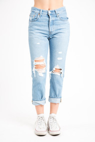 Levi's 501 Crop in Mongomery Patched