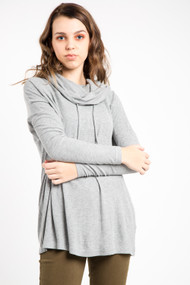 Jack Knit Your Day Pullover in Heather Grey