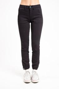 Mavi Ivy Cargo Skinny in Black Twill