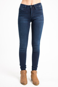 Mavi Adriana Mid Rise Skinny in Midnight Supersoft