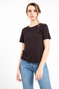 Project Social T Ribbed Baby Tee in Black