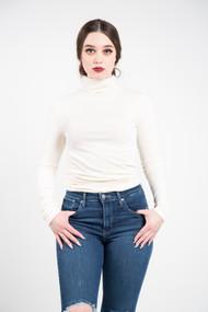 C'est Moi Bamboo Turtleneck in Ivory