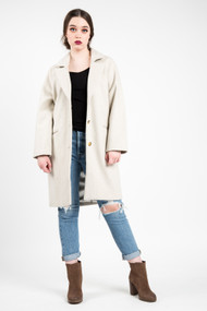 Amuse Society Siena Wool Coat in Oatmeal