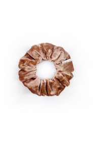 Chelsea King Crushed Velvet Petite Scrunchie in Rose