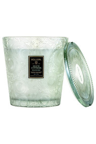 Voluspa 3 Wick Hearth Candle in White Cypress
