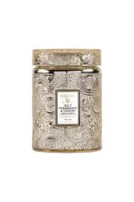 Voluspa Holiday Glass Jar Candle in Gilt Pomander & Hinoki
