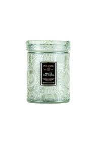 Voluspa Holiday Mini Jar Candle in White Cypress